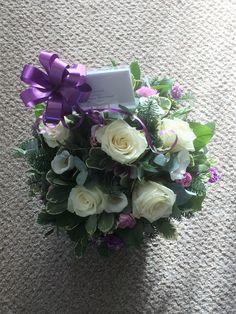 Beautiful fresh flower basket arrangement created by Willow House Flowers Aylesbury florist - www.willowhouseflowers.co.uk