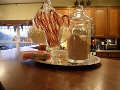 Hot Cocoa Station | hot cocoa station...might be fun at a holiday party...add some kind of ...