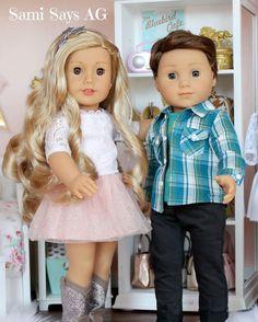 We just LOVE Tenney & Logan! #samisaysag #dollhousedesign #dollstagram #loganeverett #tenneygrant #americangirl #ᴀᴍᴇʀɪᴄᴀɴɢɪʀʟʙʀᴀɴᴅ #joy2everygirl #americangirldoll