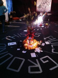 Burning bush - prayer room ( we could use tape to write any phrase we want to)
