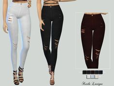 The Sims Resource: Alive Jeans by Karla Lavigne • Sims 4 Downloads
