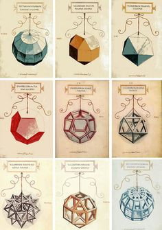 Dibujos de Figuras geométricas de Leonado da Vinci