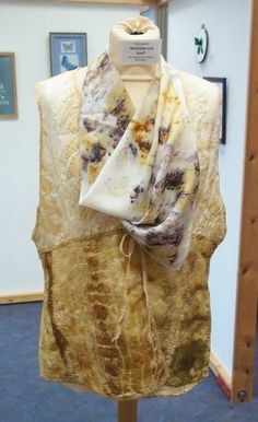 Freda's Eco Dyed Waistcoat and Scarf