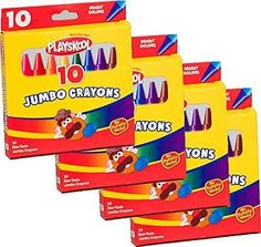 6 Pack Sesame Street 12 Count Washable Jumbo Crayons for Toddlers and Kids Non Toxic Great for Classrooms 72 Crayons Total Assorted Colors