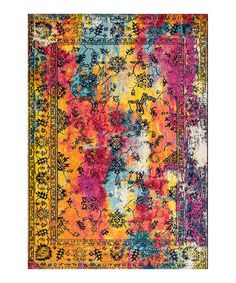 nuLOOM Yellow Vintage Dahlia Area Rug | zulily