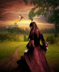 """""""Take me, just take me with you,"""" she whispered to the bird."""