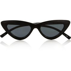 Le Specs Le Specs X Adam Selman (€81) ❤ liked on Polyvore featuring accessories, eyewear, sunglasses, glasses, adam selman, one colour, black lens sunglasses, cat eye sunglasses, le specs and cateye sunglasses