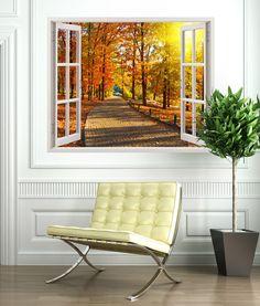 Abre una ventana a lugares de ensueño, paisajes únicos que harán de tu casa un espacio muy especial. En nuestra seccion de vinilos de ventanas encontraras una amplia variedad de la mas alta calidad. Nuestro vinilo de ventana Otoño en el parque, es un paisaje en colores rojos, amarillos, terrosos, y cobrizos; que relajan y su vez dan mucha luminosidad a la estancia. #teleadhesivo #decoracion