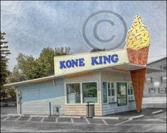 Kone King Ice Cream stand photo by Jman Photo New York Photography, Vintage Photography, West Seneca, Old Fashioned Ice Cream, Ice Cream Stand, New York Buildings, New York Architecture, Buffalo New York, Historical Images