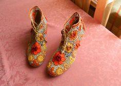 örgü ev ayakkabısı modelleri