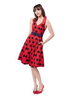 Navy Dress, Dress Red, Review Fashion, Online Dress Shopping, Review Dresses, 1950s Fashion, Pretty Outfits, Dresses Online, Dress Outfits