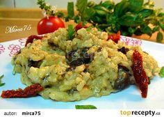 Houbové rizoto recept (parmazán,bylinky,víno)