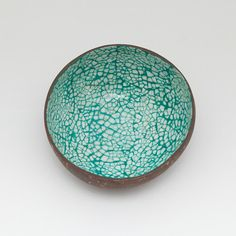 Coconut Bowl with lacquered eggshells by Namigurumi on Etsy, $6.50