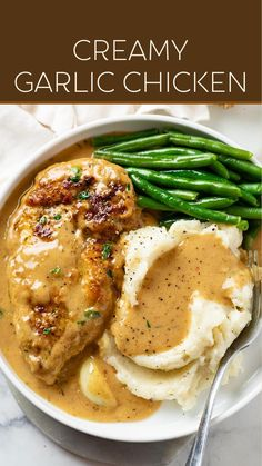 Best Chicken Recipes, Meat Recipes, Dinner Recipes, Cooking Recipes, Healthy Recipes, Creamy Garlic Chicken, Quick Meals, Food Dishes, Gourmet