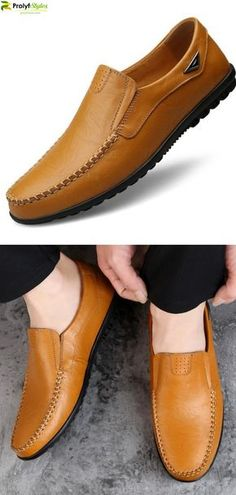 Mens casual dress shoes - Slip On FlexMax Moccasin Mens Casual Dress Shoes, Casual Slip On Shoes, Mens Fashion Casual Shoes, Stylish Mens Fashion, Men Casual, Men's Fashion, Fashion Suits, Latex Fashion, Formal Shoes