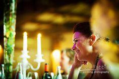 Wedding: Peaceful bride at the reception