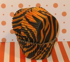 tiger cupcake wrappers; would be cute with blue velvet cupcakes!!