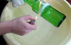 Jednoduchý spôsob, ako rozdeliť sklenenú fľašu na polovicu   Chillin.sk