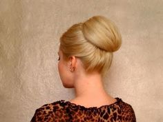 Bun hairstyles for long hair tutorial Easy prom updo Vintage 60s bridal wedding hairdo