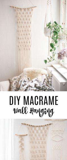 Super Easy DIY Macrame Wall Hanging Tutorial! Suitable for Beginners!