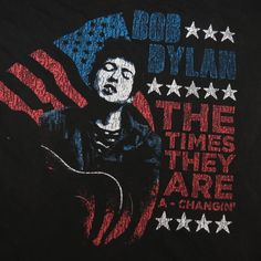 BOB DYLAN THE TIMES THEY ARE A  CHANGIN  CONCERT TOUR TEE T SHIRT Sz Mens L