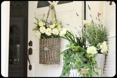 Love this alternative to a wreath (This is a great site: The Old Painted Cottage Unique Goods and Curious Finds)