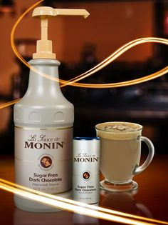Create delicious and tasty low-calorie beverages with Monin Sugar Free Dark Chocolate Sauce! #sugarfree #lowcalorie #recipe #chocolate #skinny #Monin