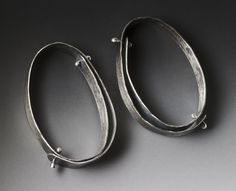 Sterling silver rivet earrings by Lisa Colby