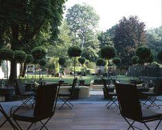 The Bulgari Hotel's private garden