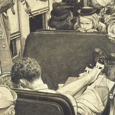 Little Girl Observing Lovers on a Train, 1944