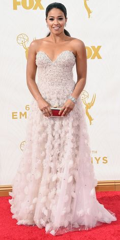 Emmys 2015 Red Carpet Arrivals - Gina Rodriguez - from InStyle.com