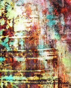 """""""Allers-retours"""" (Round Trips) Peinture hybride, fusion entre techniques mixtes et numérique. Mars 2015. © 2015, Louise Lamirande. http://louiselamirande.com/se-raconter-des-histoires-et-fuite-du-reel/  Digital painting created with my original mixed media paintings and pure digital effects. http://en.louiselamirande.com/project/allers-retours-round-trips/"""