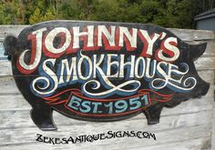 hand painted wooden sign for BBQ customer,TX