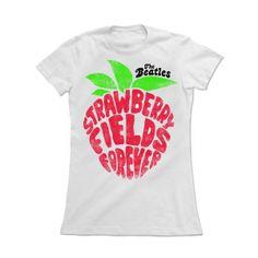 Camiseta Feminina The Beatles - Strawberry Fields Forever