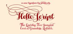 HelloScript Typeface by zetafonts - the fonts foundry