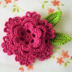 Very pretty, crocheted flower
