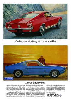 1967 Mustang Shelby Gt 500. Find parts for this classic beauty at http://restorationpartssource.com/store/