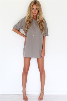 Mocha Tee Dress | SABO SKIRT... great for bed or to wear around the house or over a swimsuit
