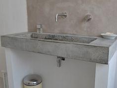 betonnen wastafel zelf maken - Google zoeken