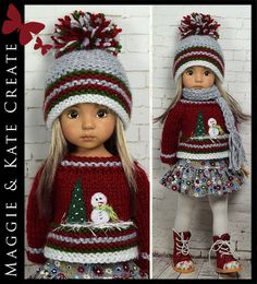 Winter Outfit #3 for Little Darlings Dianna Effner 13  by Maggie & Kate Create