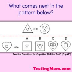 203 Best Cognitive Abilities Test Or Cogat Free Practice Questions
