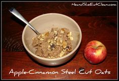 This is a very simple (yet delicious) oatmeal recipe you can make overnight in a slow cooker that yields 12-14 servings! Clean Eat Recipe: Apple-Cinnamon Steel Cut Oats | He and She Eat Clean