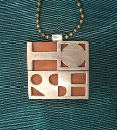 Silver and copper necklace
