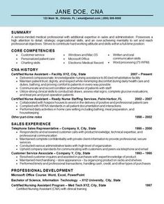 "Free Cna Resume Samples Awesome Nice ""Mention Great And Convincing Skills"" Said Cna Resume Sample ."