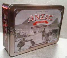 UNIBIC ANZAC BISCUIT TIN 2014 Regimental Mascot Commemorating 100 Years Unopened