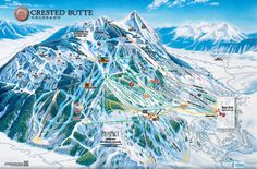 Crested Butte, CO Mountain map