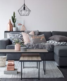 Pinterest Color Of Year - Gray | Check out this post about Pinterest's top colors for the home. #refinery29 http://www.refinery29.com/2016/04/107588/top-pinterest-color-trends