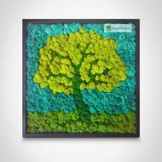 Moss Wall Art, Moss Art, Green Office, Flower Decorations, Bonsai, Creativity, Wall Decor, Artwork, Flowers