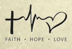 Image result for love hope faith symbol
