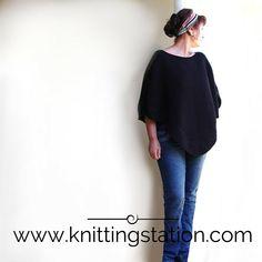 Indie Poncho pattern by Tracy Schmittgen The Knitting Station Designer Knitting Patterns, Poncho Knitting Patterns, Knitted Poncho, Garter Stitch, Double Knitting, Digital Pattern, Pattern Design, Knitwear, Knit Crochet